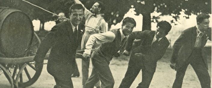Pier Giorgio pulling a keg